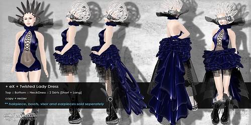 + eX + Twilight Lady Dress *Blue