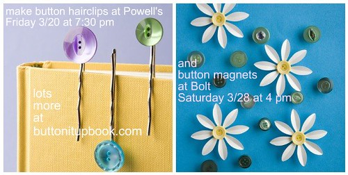 Button Crafts at Powell's + Bolt!