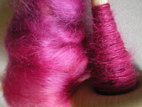 drop spindle kid mohair
