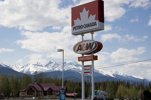 Perfect stopover with A&W and great scenery