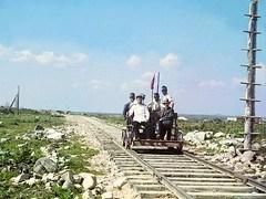 on the trolley near petrozavodsk by murman railway, 1915