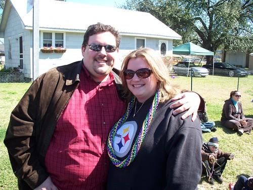 Erin and I at the Houma parade