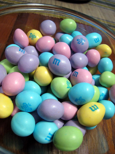 Bowl of Easter M&Ms