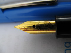 Pelikan M150 Black GT Medium nib detail (by andrea=netnemo)