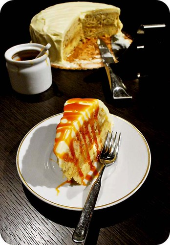 Banana Caramel Cake with Mascarpone Frosting II
