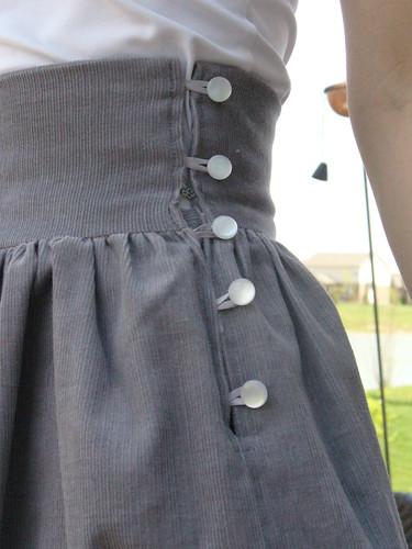 Cord Skirt 3