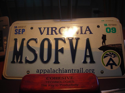 Virginia AT License Plate (by Larry)