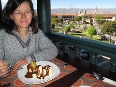 Banana split au-dessus de la plaza d'Ayacucho