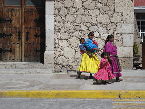 Tarahumara in Creel, in their traditional dress