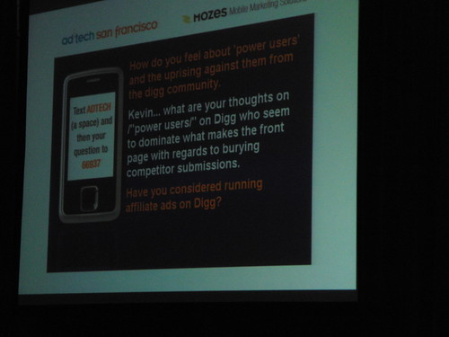 Questions from audience at Kevin Rose keynote