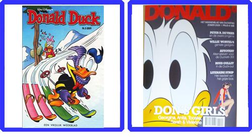 Donald Duck Weekblad vs, Donald Glossy