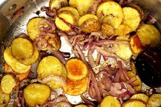 potato, onion and garlic