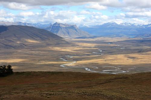 Rio de las Chinas from Cerro Cazador (© 2009 clasticdetritus.com)