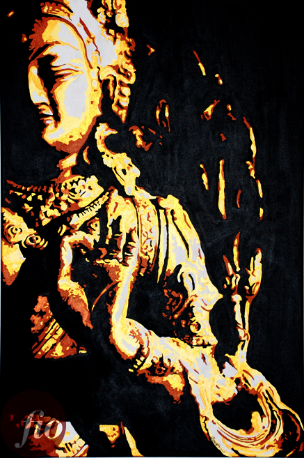fiona-ho-quan-yin-acrylic-on-canvas