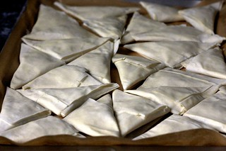 triangles, ready to be froze