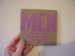 A 3-track CD sampler from Men