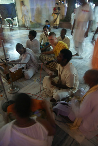 The kirtan party continued with their songs