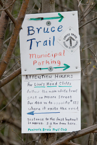 Bruce Trail sign