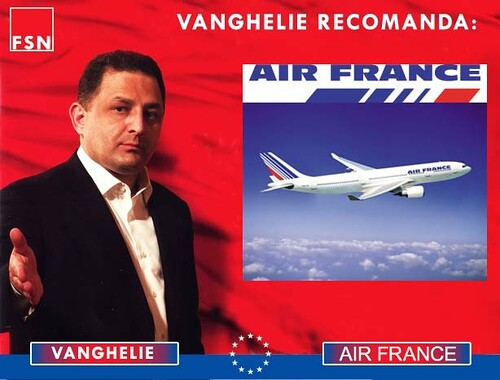 Vanghelie recomanda Air France