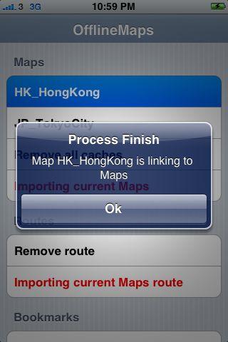 iPhone Google offline Hong Kong maps