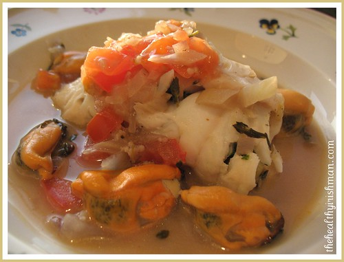 Stuffed Sole with Mussels