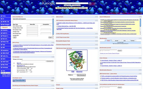 iGoogle Tab: Research