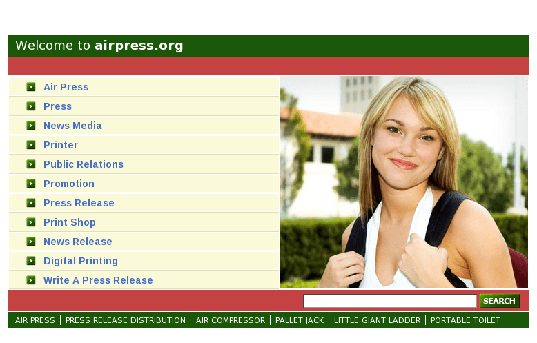 The new Airpress.org ! (screenshot from www.airpress.org)