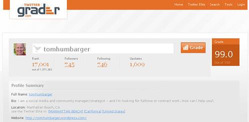 Twitter Grader - Tom Humbarger
