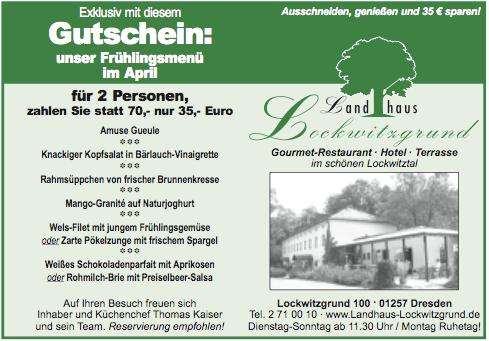 Aprilmenü 2009 (Landhaus Lockwitzgrund)