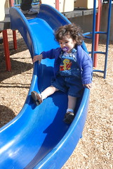 Sliding at the Community Park