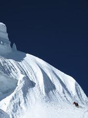 La goulotte finale du Toccalraju, à 6000m d'altitude !