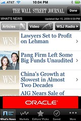 WSJ on the iPhone