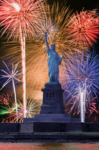 Statue Of Liberty Fireworks