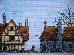 Virginia Woolf, La vedova e il pappagallo, Emme Edizioni 1984. Illustrazioni di Franco Matticchio: q. di cop. (part)