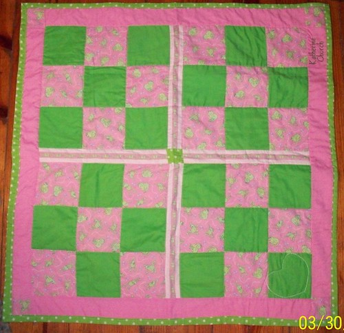 9 Patch Funky Frogs Quilt