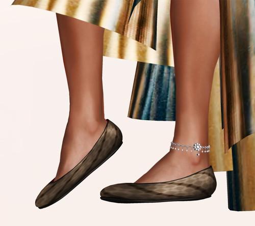 {Zaara} anklet in silver