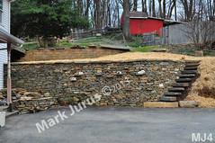 WM Mark Jurus 4, retaining wall, flat caps stones, step stiles, steps, dry laid stone construction, copyright 2014