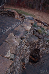 WM Dale Mitchell Landscape 6, Fire place, Flat work, Retaining wall, dry laid stone construction, copyright 2014
