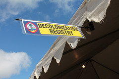 The Guam Decolonization Registry Booth