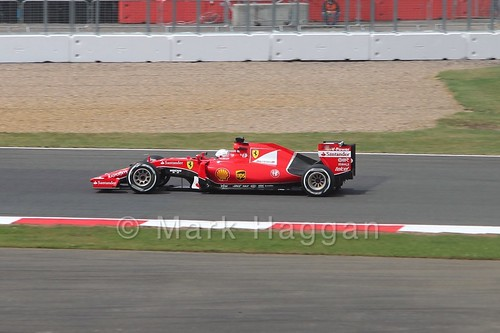 Sebastian Vettel's Ferrari in the 2015 British Grand Prix