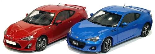 AutoArt Toyota & Subaru BRZ
