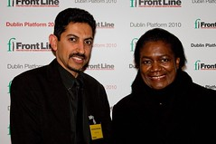 Abdulhadi Al khawaja with Margaret Sekaggya