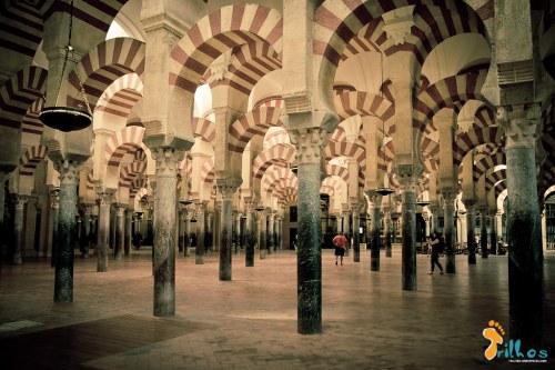 Interior da Mesquita de Córdoba (antiga mesquita)