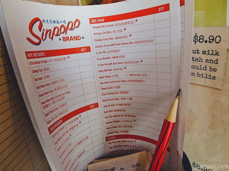 Sinpopo SIngapore Food