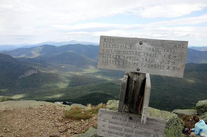 Mt. Lafayette Summit Sign