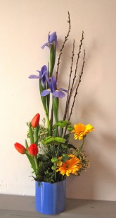 Vertical Floral Arrangement - Lisa Greene, AAF, AIFD, PFCI