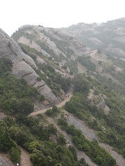 View of the trail to the Hermitage on Montserrat