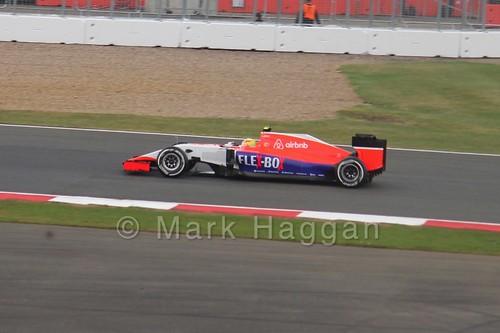 Roberto Merhi in the 2015 British Grand Prix at Silverstone