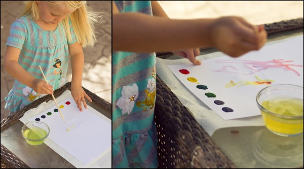 painting with watercolor pages - crafts for kids while camping