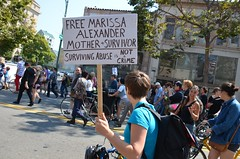 Justice for Marissa Alexander protest in Oakland